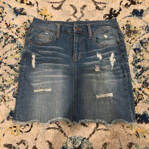 Target Mossimo Denim/Jean Distressed Skirt
